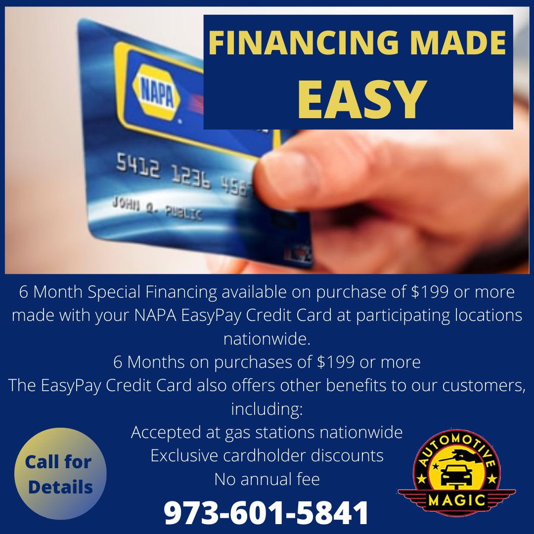 AUTOMOTIVE REPAIRS FINANCING MADE EASY